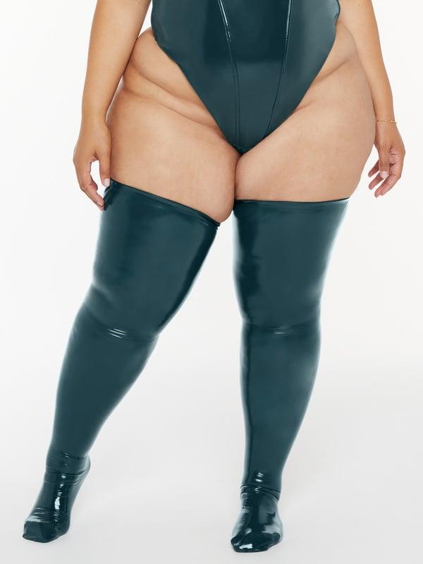 Thikker Thigh High Vinyl Stockings