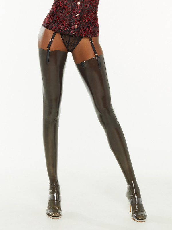 Skin Tight Stay-Up Latex Stockings