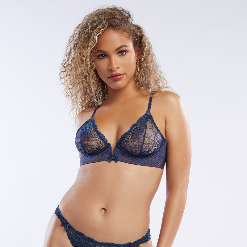 0d1ddbc6ad V-Wire Chambray Unlined Bra