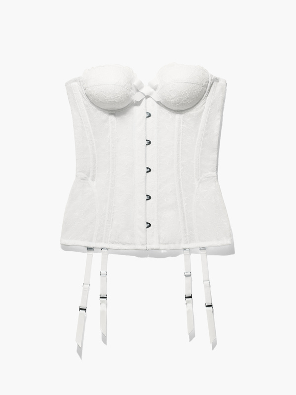 Embroidered Lace Corset
