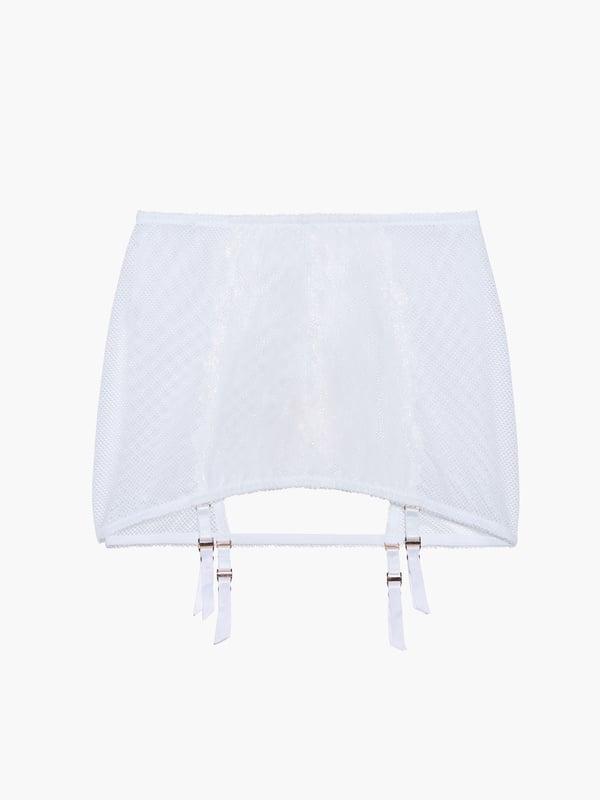 Floral Glow Backless Garter Skirt