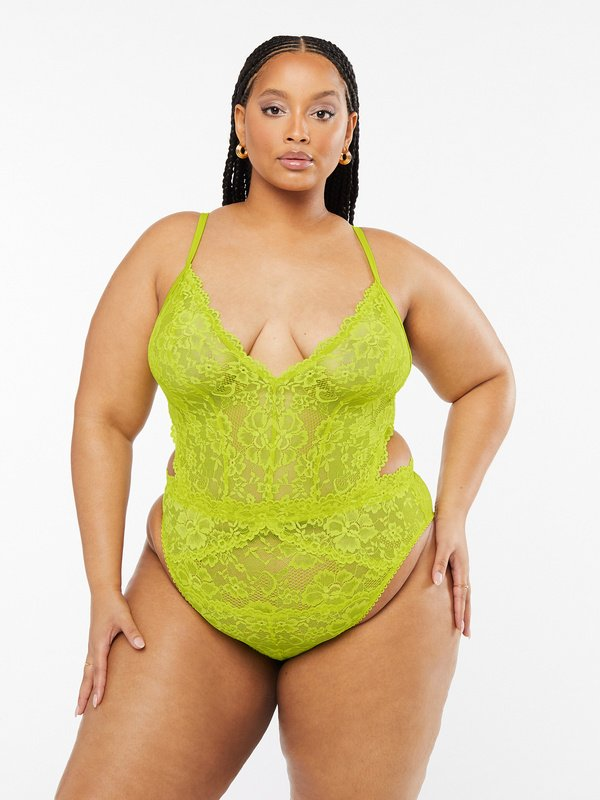 NEW Floral Lace Teddy