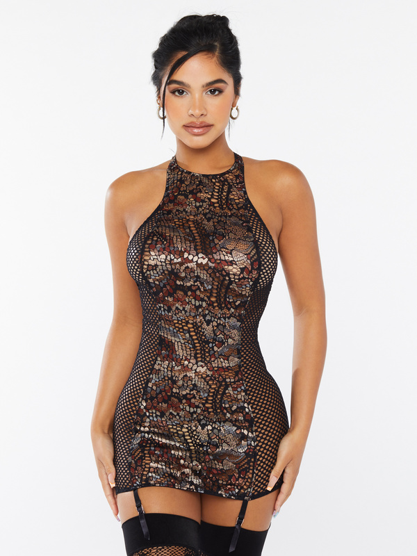 Cold-Hearted Snake Lace Slip with Suspender