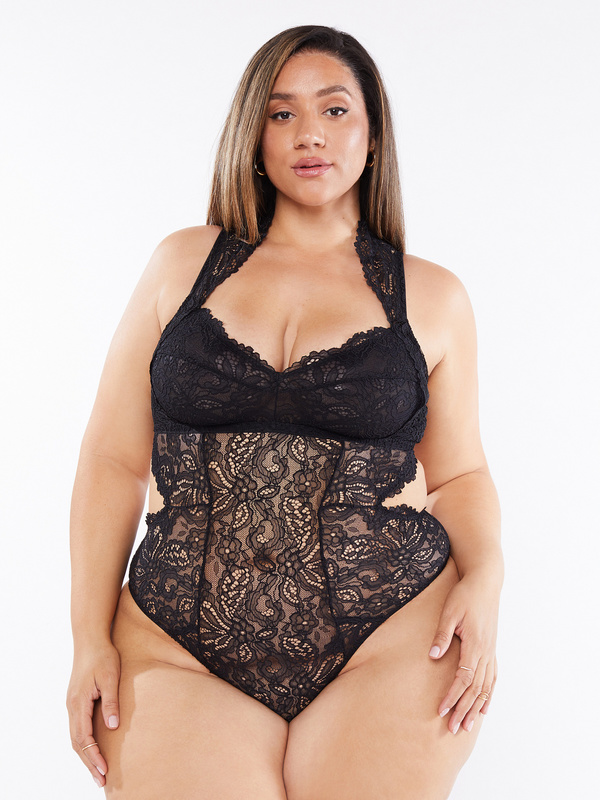 Romantic Corded Lace Teddy