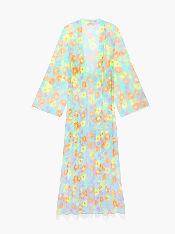 Free Spirit Floral Full-Length Robe in Green & Multi   SAVAGE X FENTY