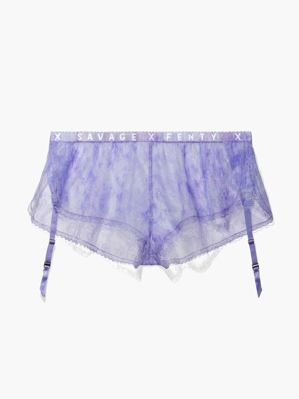 Watercolor Tie Dye Lace Short with Garter