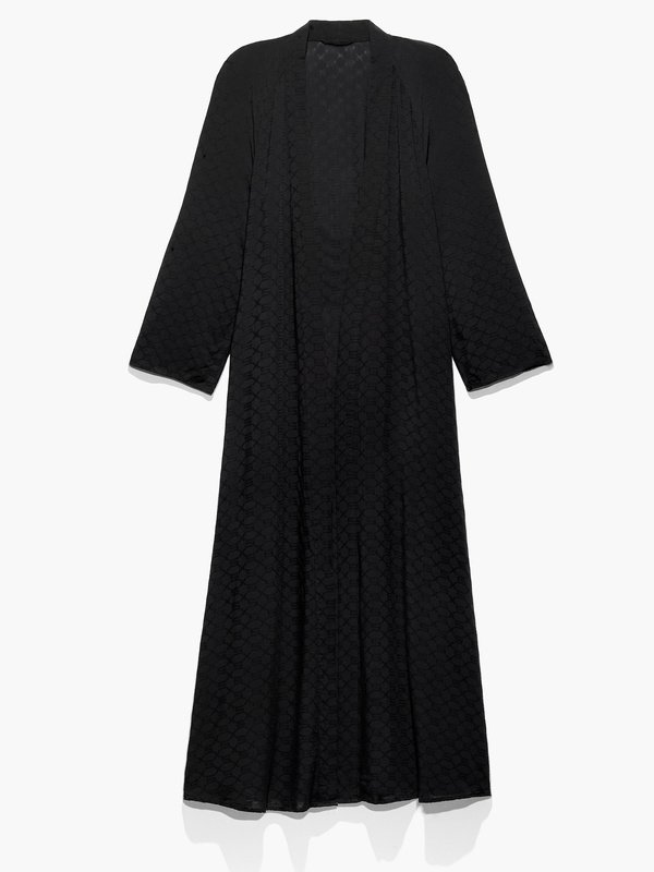 Woven Voile Monogram Sleep Long Robe