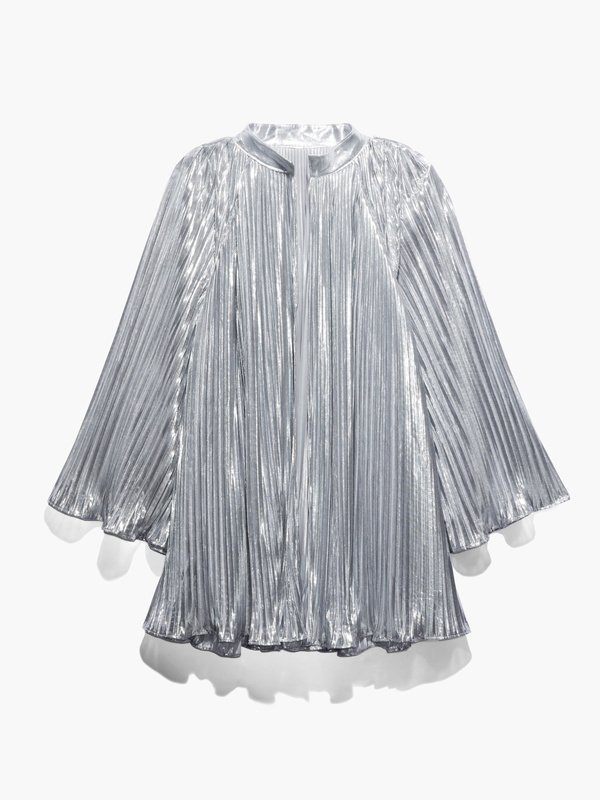 Pleated Lamé Bed Jacket