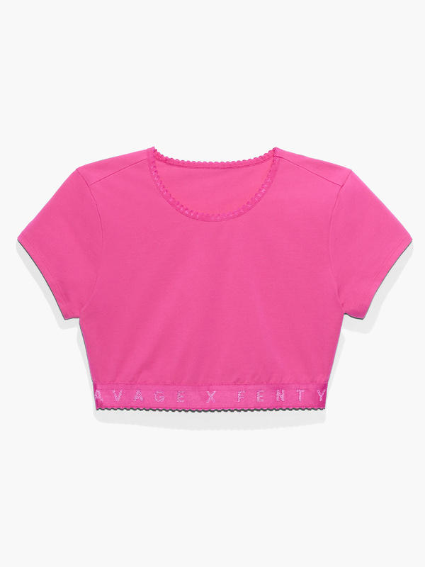 CLF Savage X Cotton Jersey Crop Top