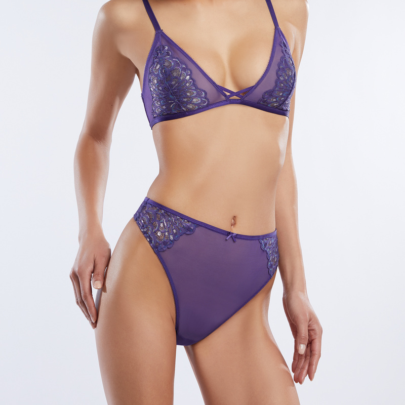 3ddd431fd023 Metallic Lace High-Waist Thong | SAVAGE X FENTY