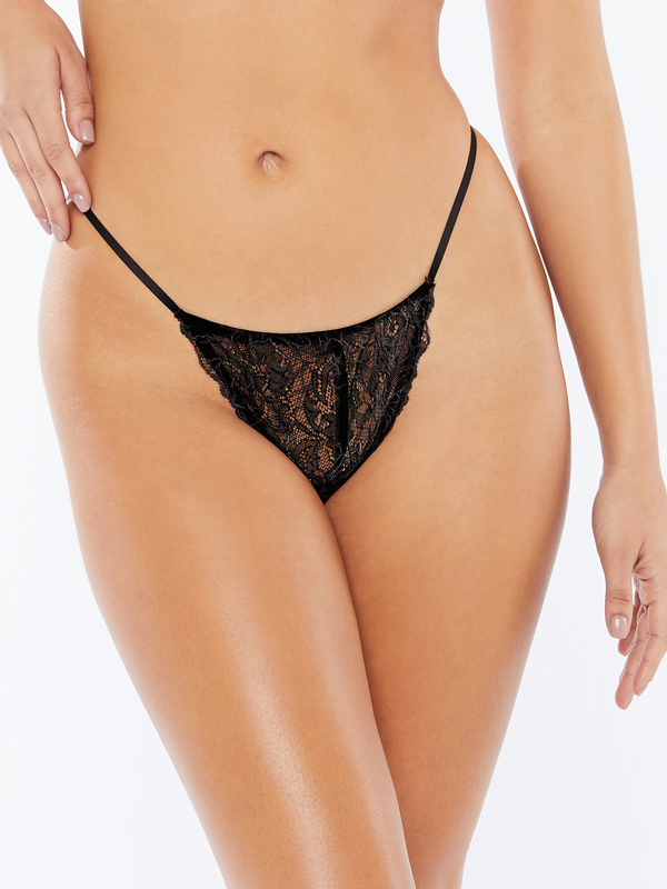 Embroidered Lace G-String