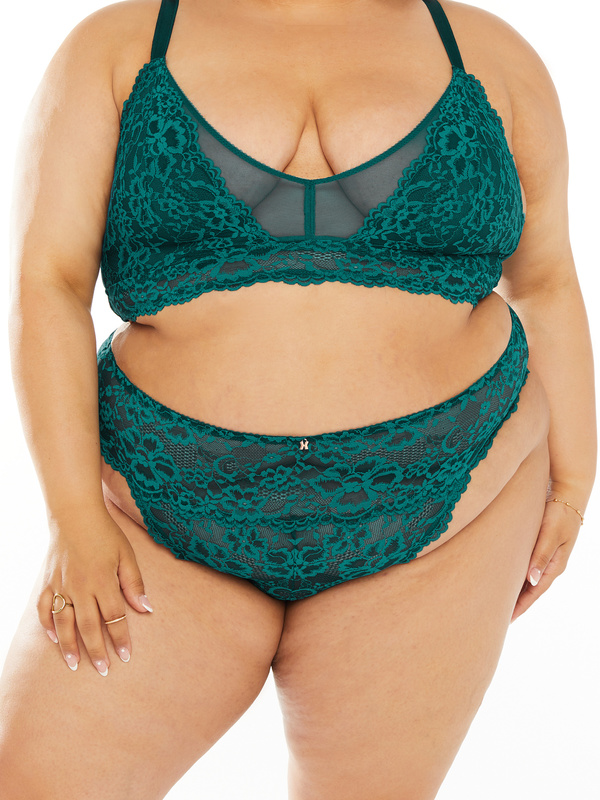 NEW Floral Lace High-Waist Thong
