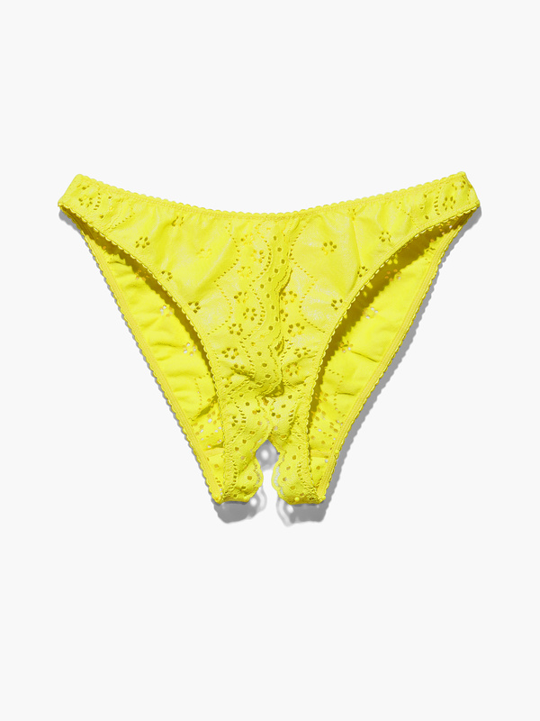 Bombshell Broderie Crotchless Lace Knickers