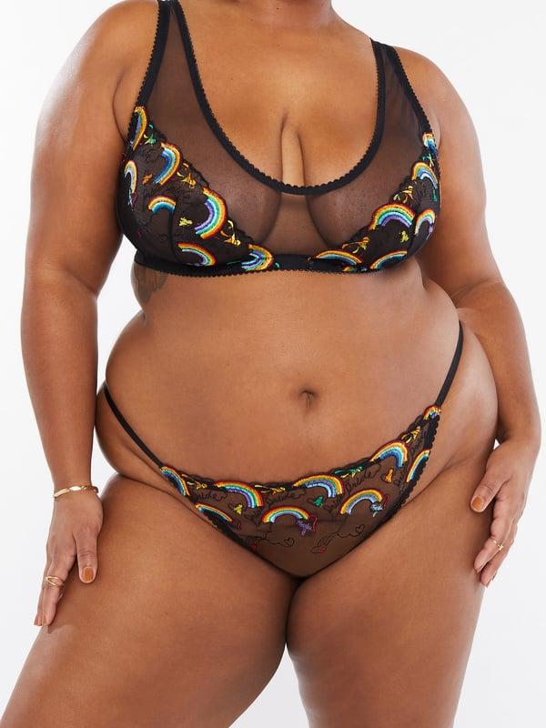 Savage X Pride Embroidered String Bikini