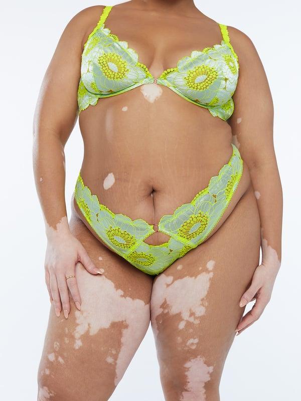 Perfect Poppies Lace Brazilian
