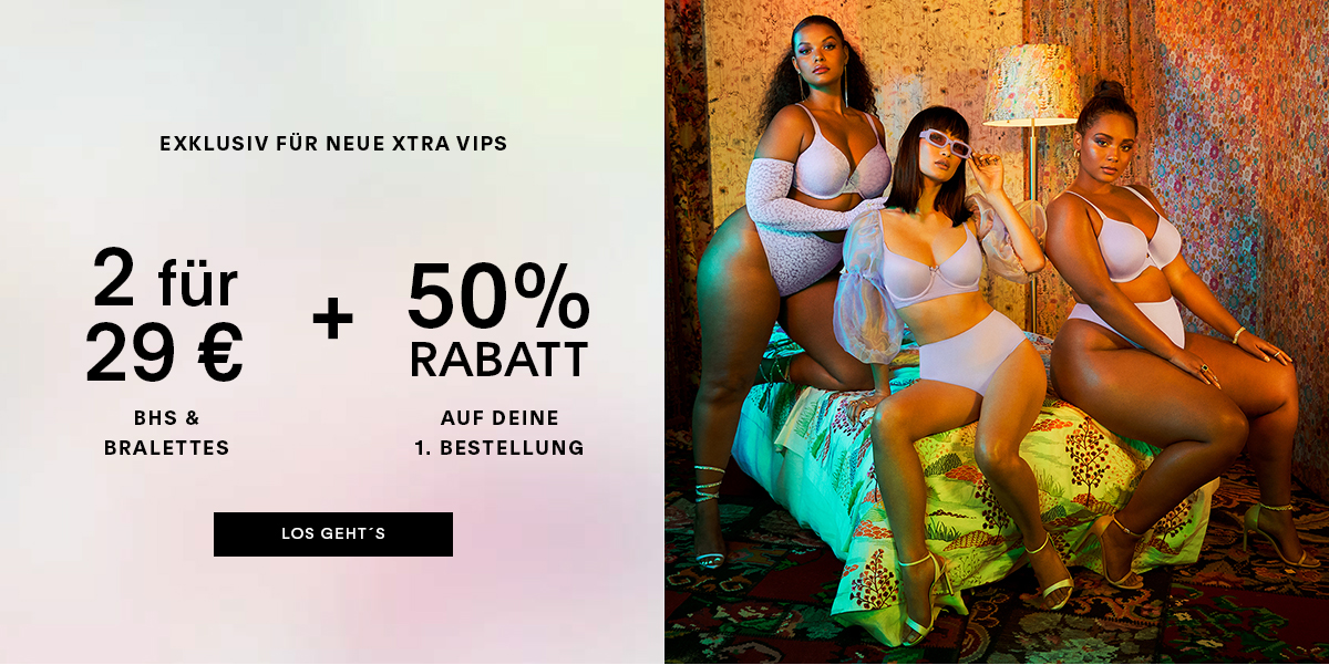 New Xtra VIP Xclusive | 2 For $29 Bras & Bralettes + 50% OFF SITEWIDE