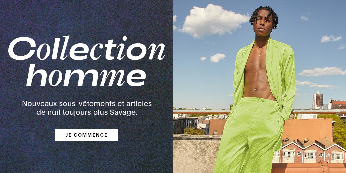 Collection homme | Nouveaux sous-vêtements et articles de nuit toujours plus Savage.