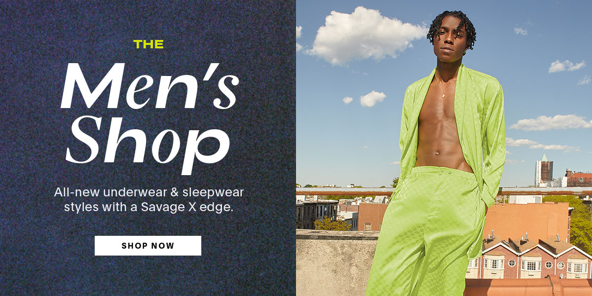 The Men's Shop | All-new underwear & sleepwear styles with a Savage X edge.